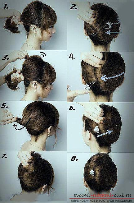 Учимся делать красивые прически на средние волосы своими руками. Фото №3