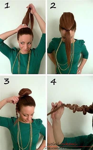 Мастер-класы по созданию модных причесок на средние по длине волосы своими руками за 5 минут. Фото №3