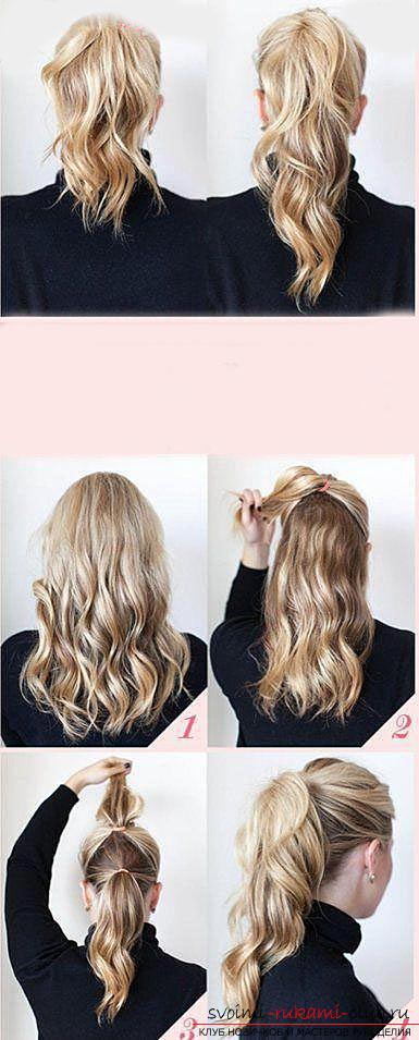 Учимся делать красивые прически на средние волосы своими руками. Фото №2