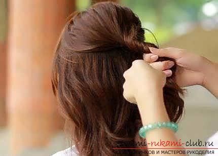 Мастер-класы по созданию модных причесок на средние по длине волосы своими руками за 5 минут. Фото №18