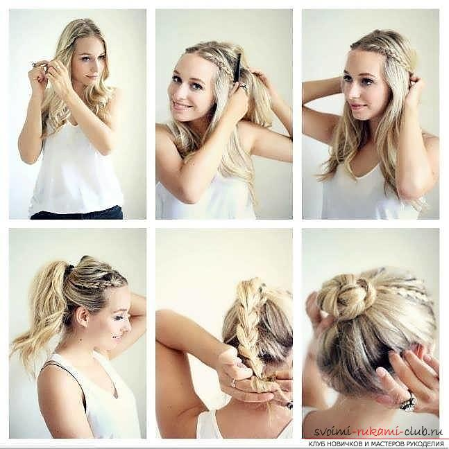 Мастер-класы по созданию модных причесок на средние по длине волосы своими руками за 5 минут. Фото №26