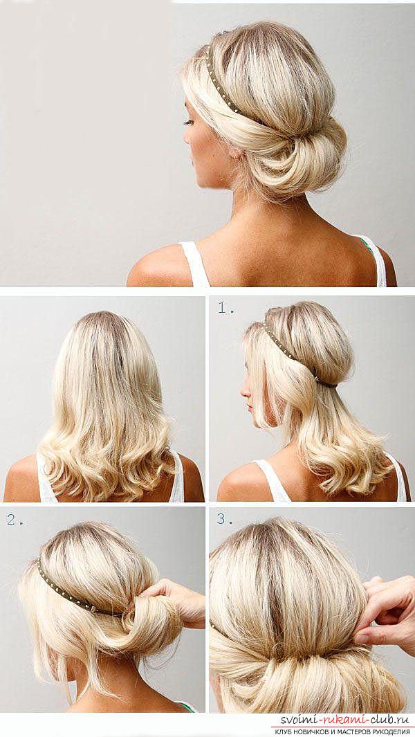 Учимся делать красивые прически на средние волосы своими руками. Фото №4
