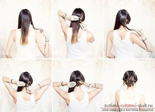 Мастер-класы по созданию модных причесок на средние по длине волосы своими руками за 5 минут. Фото №27