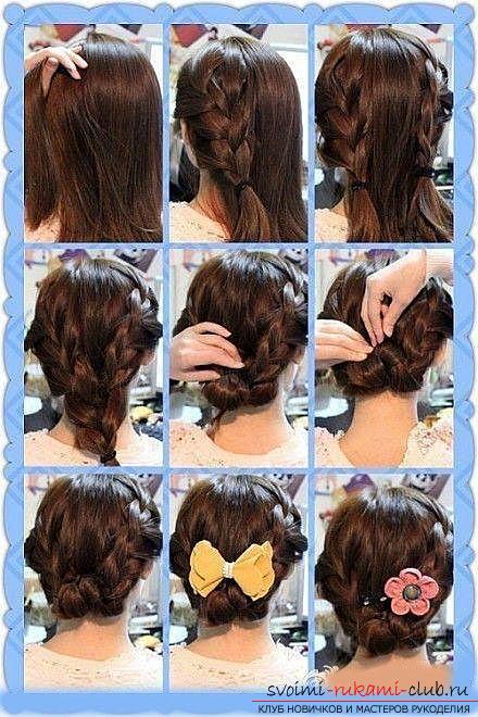 Учимся делать красивые прически на средние волосы своими руками. Фото №7