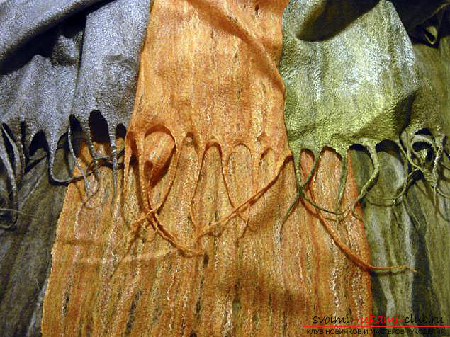 Как свалять стильный шарфик своими руками. Фото №1