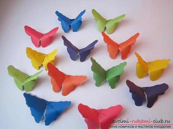 Яркие бабочки оригами своими руками. Фото №4