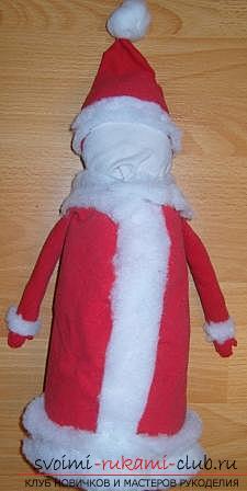 Новогодние поделки своими руками, Дед Мороз своими руками, как сделать Деда Мороза, поделки вместе с детьми, идеи и подробные уроки.. Фото №31