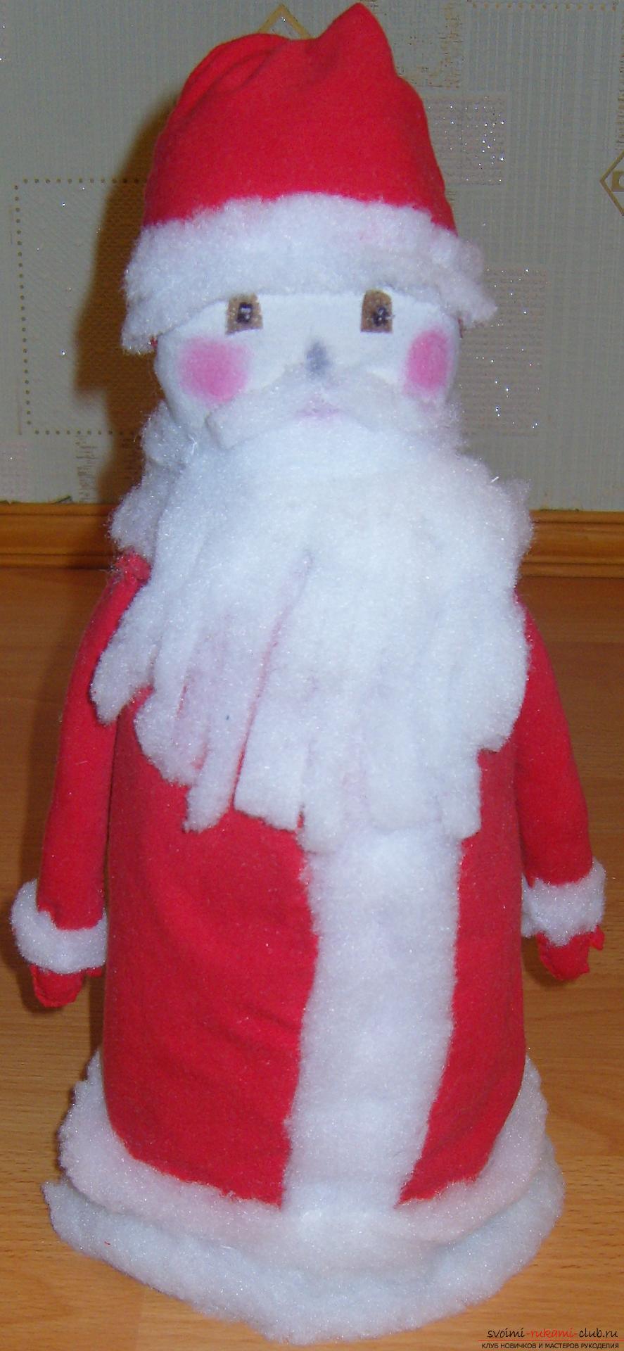 Новогодние поделки своими руками, Дед Мороз своими руками, как сделать Деда Мороза, поделки вместе с детьми, идеи и подробные уроки.. Фото №32