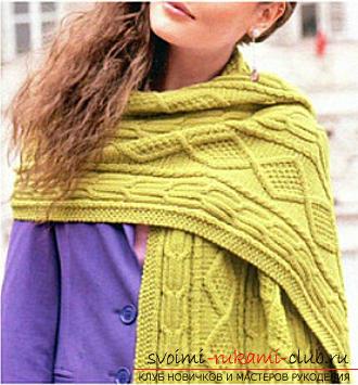 Вязание спицами, схема шарфа, как связать шарф спицами, схема шарфа-снуда, шарф-хомут спицами, советы, рекомендации, подробные описания и фото готовых изделий.. Фото №13
