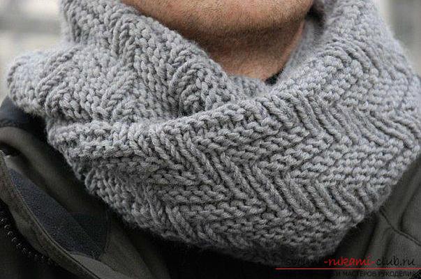Вязание спицами, схема шарфа, как связать шарф спицами, схема шарфа-снуда, шарф-хомут спицами, советы, рекомендации, подробные описания и фото готовых изделий.. Фото №11