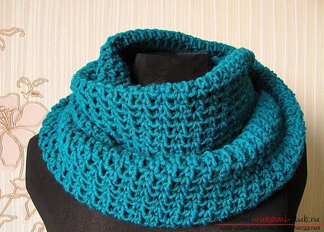 Вязание спицами, схема шарфа, как связать шарф спицами, схема шарфа-снуда, шарф-хомут спицами, советы, рекомендации, подробные описания и фото готовых изделий.. Фото №5