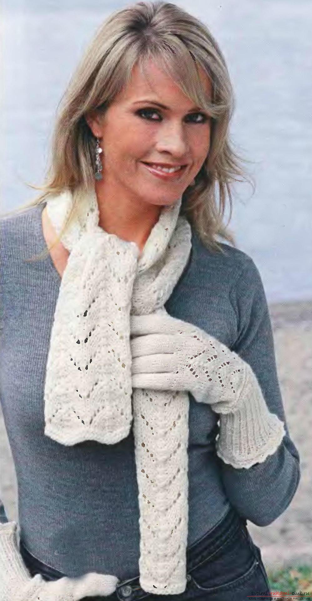 Вязание спицами, схема шарфа, как связать шарф спицами, схема шарфа-снуда, шарф-хомут спицами, советы, рекомендации, подробные описания и фото готовых изделий.. Фото №15