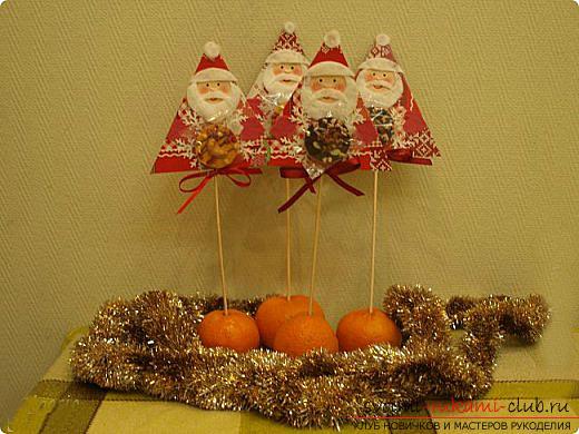 Новогодние поделки своими руками, Дед Мороз своими руками, как сделать Деда Мороза, поделки вместе с детьми, идеи и подробные уроки.. Фото №25
