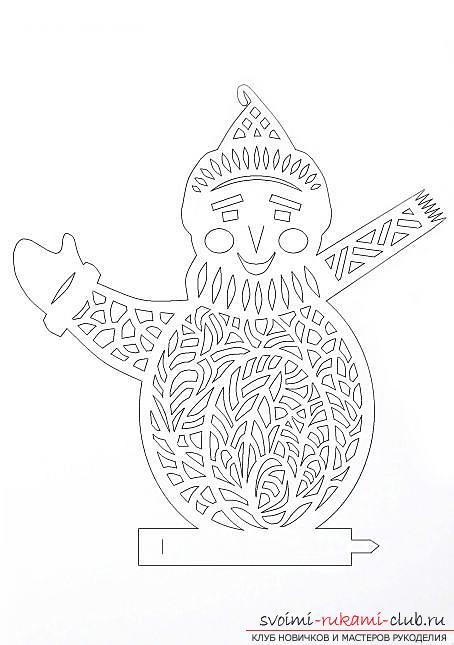 Новогодние поделки, детские новогодние поделки своими руками, как сделать снеговика из бумаги своими руками, примеры и инструкции по выполнению.. Фото №2