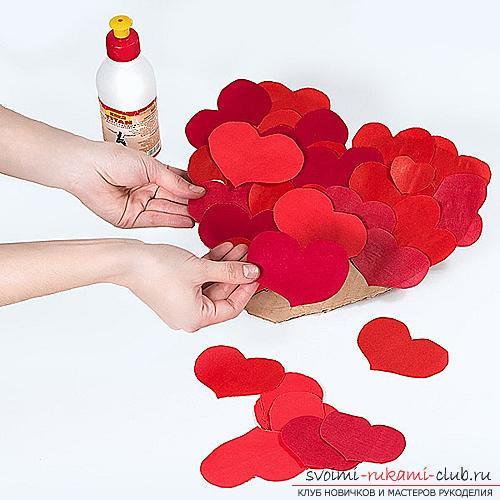 Валентинка сердечком своими руками