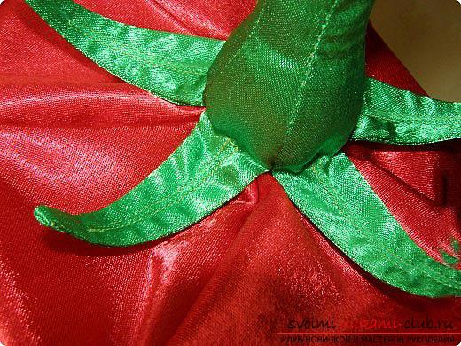 Создать костюм помидора для ребёнка своими руками. Фото №4