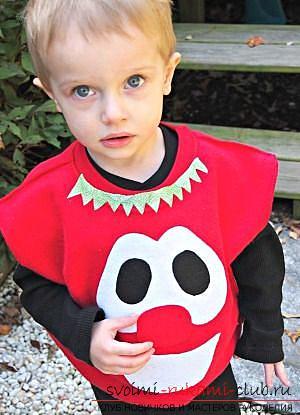 Создать костюм помидора для ребёнка своими руками. Фото №7