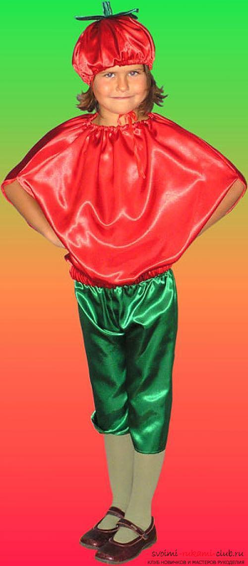 Костюм помидора своими руками для мальчика фото