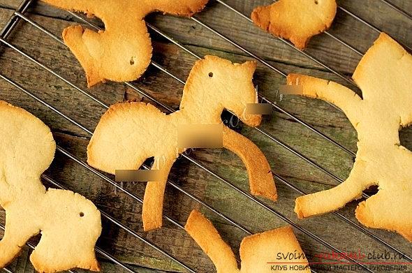 Печенье из глазури и теста для новогодних праздников - мастер-класс печенья-лошадки