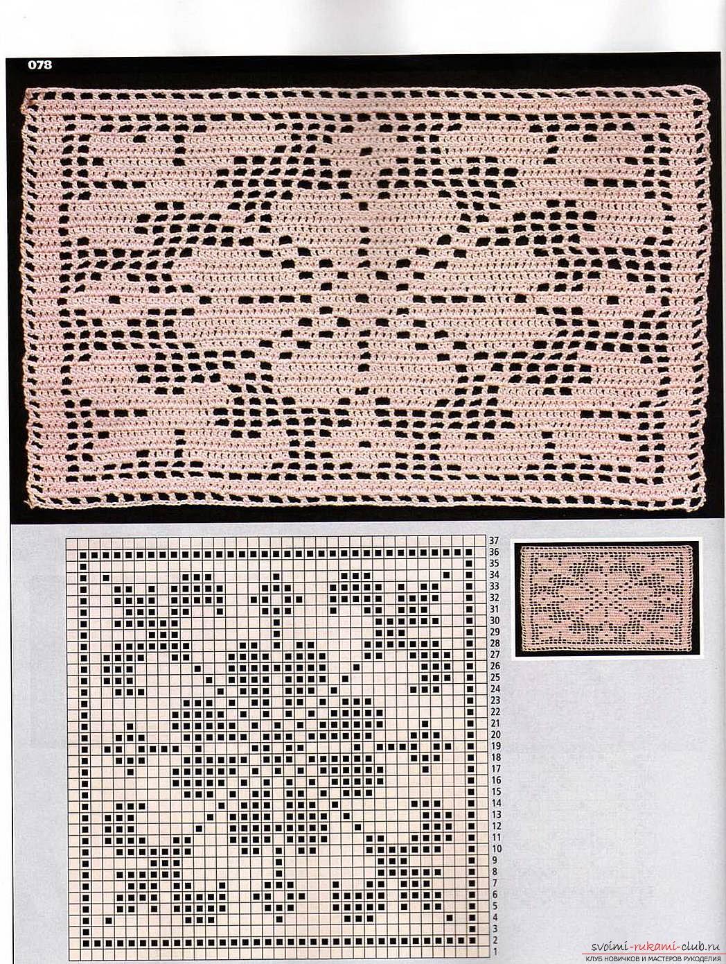 Схемы вязаний шалей с филейным узором