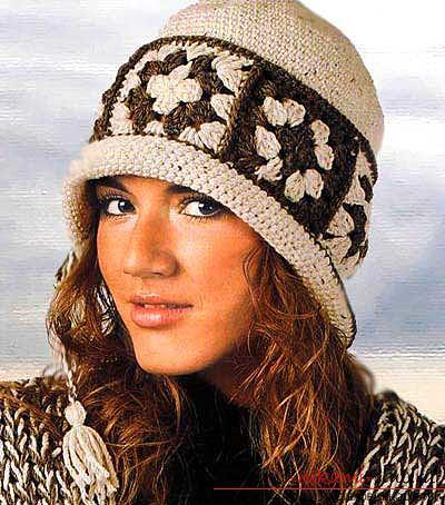 Схемы и описание вязания своими руками крючком теплых женских шляпок.. Фото №7