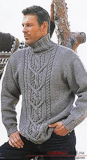 Элегантный мужской пуловер