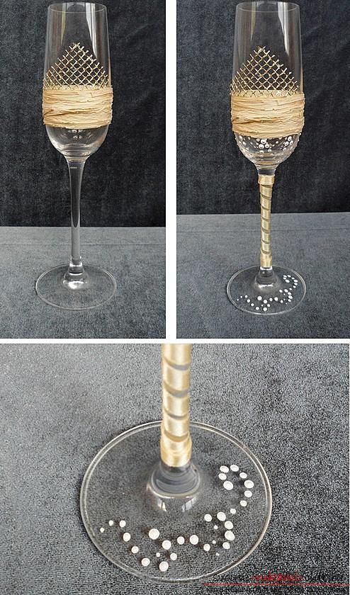 Как украсить бокалы полимерной глиной и как сделать кольца для салфеток из термопластики.. Фото №18