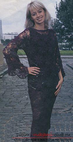 Ажурное платье для девочки, связанное крючком. Фото №1