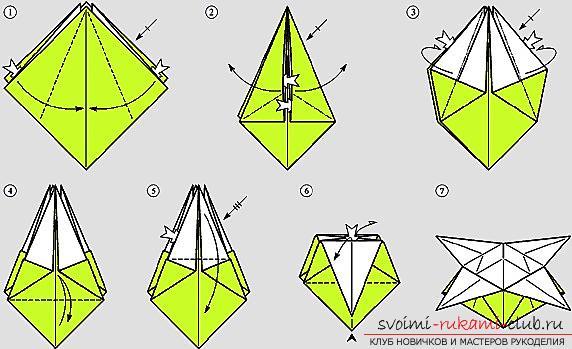 Коробочка из бумаги оригами