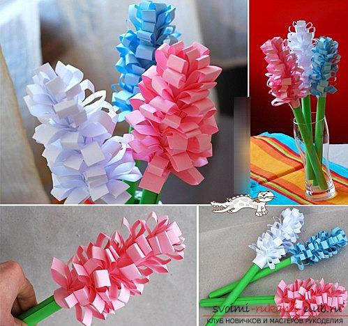 Как сделать бумажные цветы своими руками? - бумажные цветы на 8 марта, специально для мамы.. Фото №3