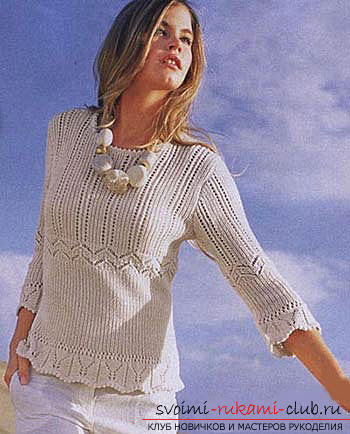 вязание рукава ажурной кофты