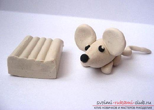 Как из пластилина сделать мышку видео