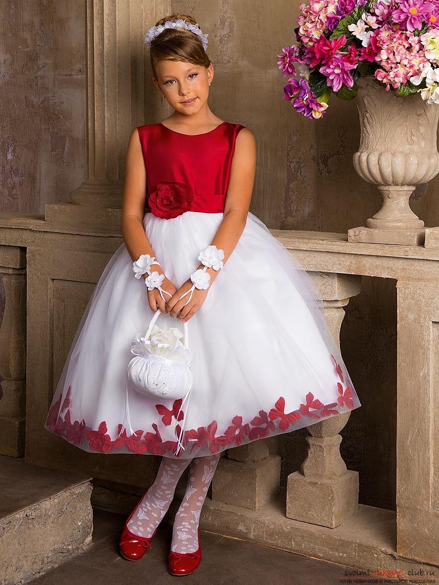 Нарядные платья для девочек пошить своими руками фото 502