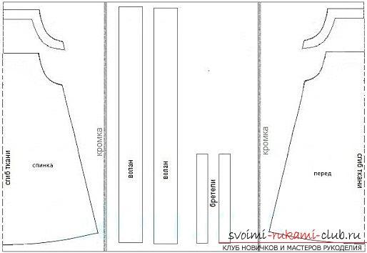 фотоинструкция по выкройке сарафана для девочки. Фото №3