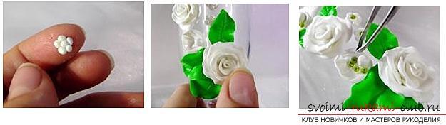 Как украсить бокалы полимерной глиной и как сделать кольца для салфеток из термопластики.. Фото №25