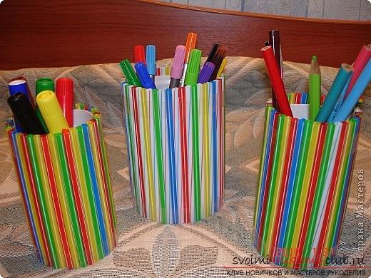 Поделки из трубочек, которые легко сделать своими руками. Фотографии поделок из ярких трубочек.. Фото №2