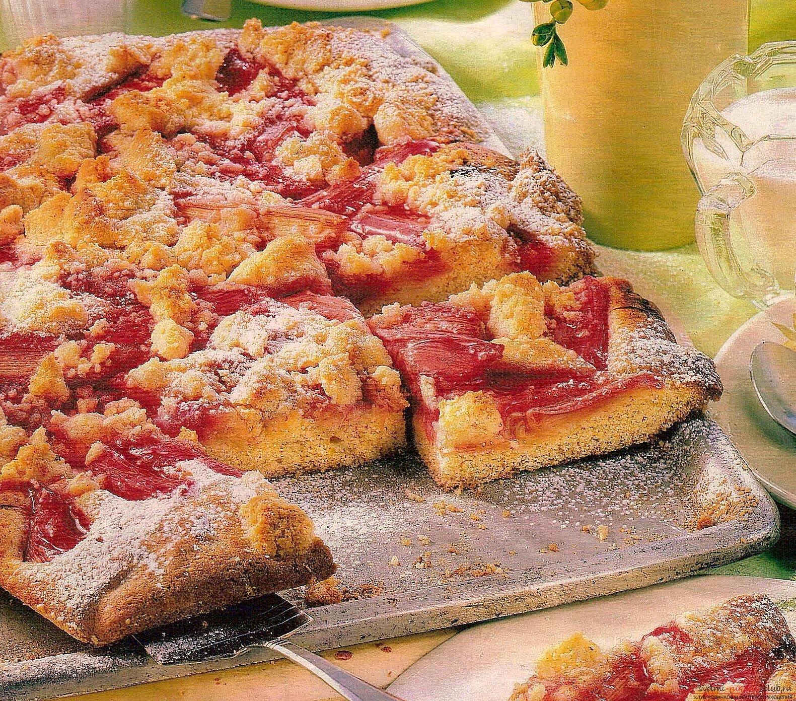 Быстрый рецепт пирога с ревенем, выпечка на скорую руку пирога и фотографии