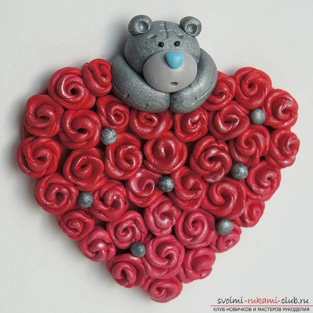 Валентинки из глины, материалы для валентинки бесплатно, фотографии.. Фото №1