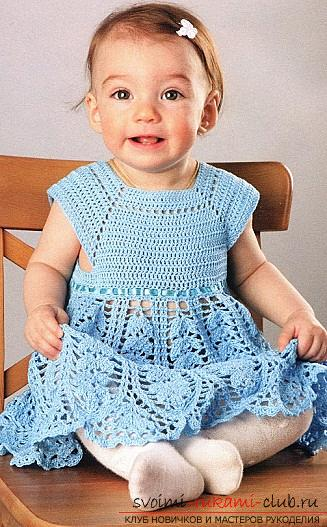 Мастер-класс по вязанию крючком детского платья, сумочки и шапочки по схемам с описанием и фото бесплатно