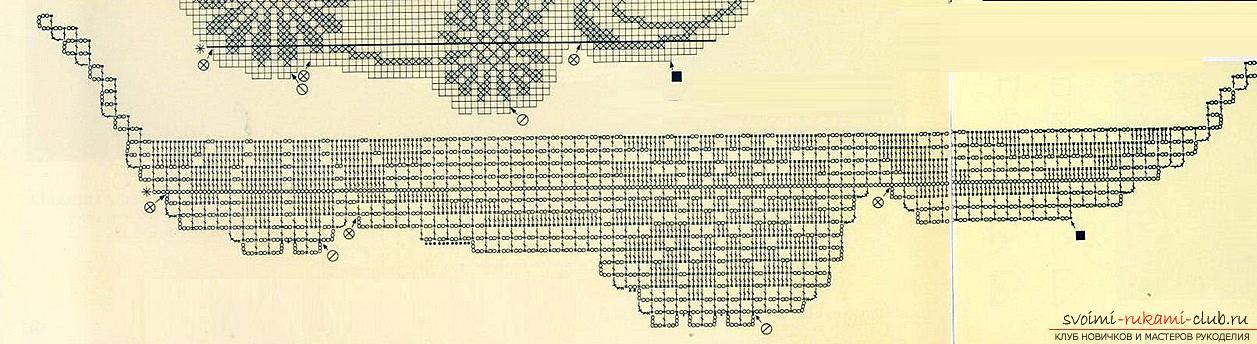 Как связать крючком различные салфетки в филейной технике со схемами и фото.. Фото №13