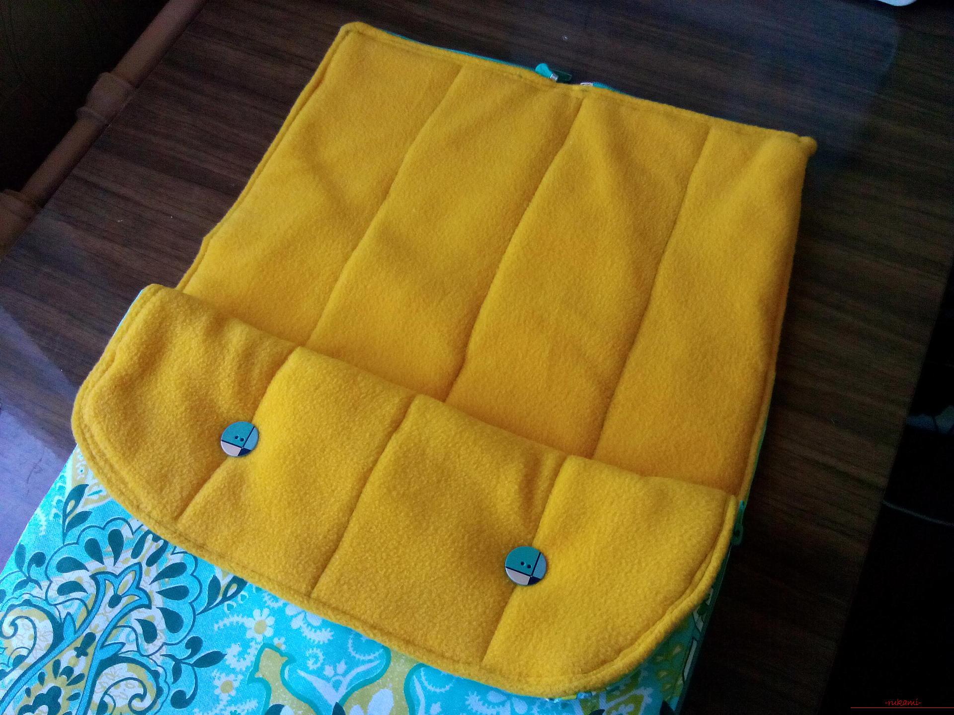 Мастер класс по выкройки конверта для новорожденного - делаем своими руками. Фото №13