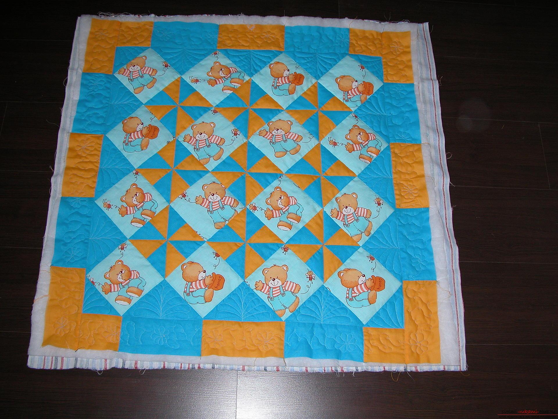 Подробный мастер класс по шитью детского лоскутного одеяла. Фото №19