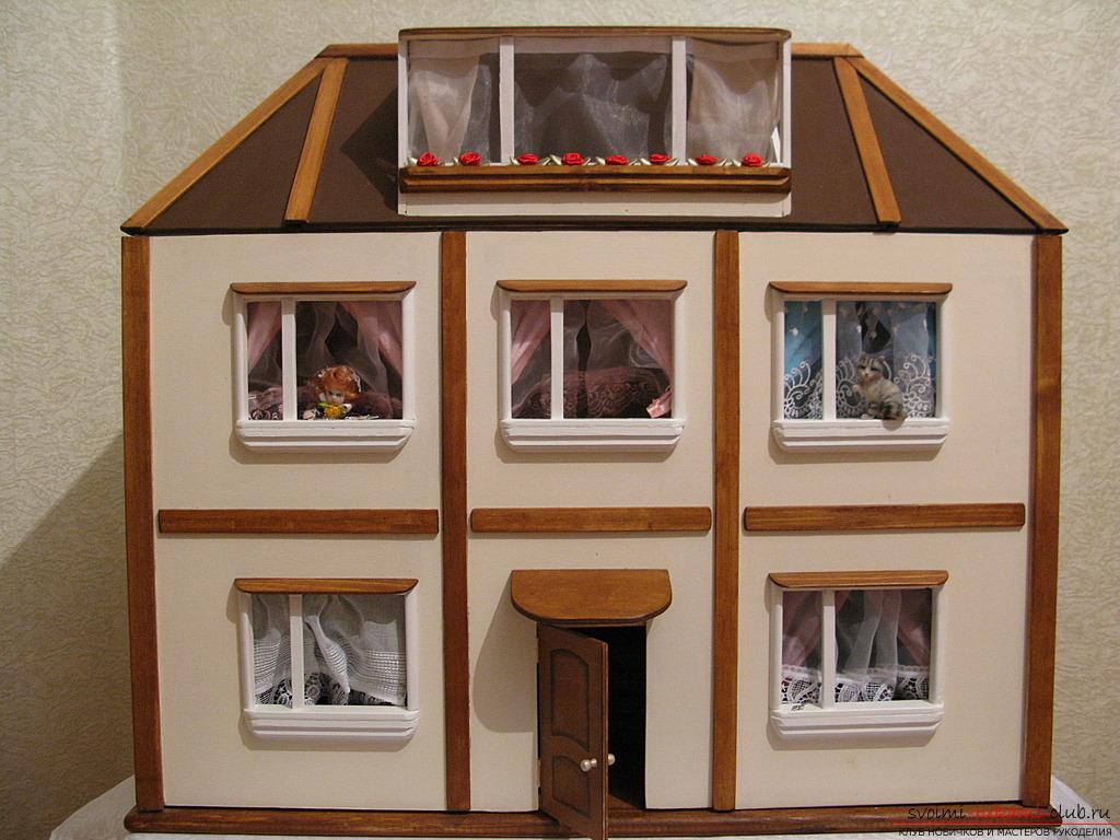 Как сделать маленький домик игрушечный своими руками 49
