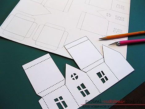 делаем домик из бумаги своими руками. Фото №2