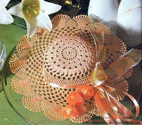 Схемы и описание того, как связать крючком летнюю шляпку для женщины, фото изделий.. Фото №1