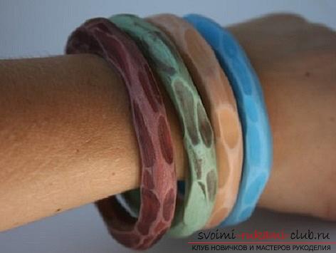 Как создать браслет из полимерной глины своими руками, мастер класс с фото.. Фото №1