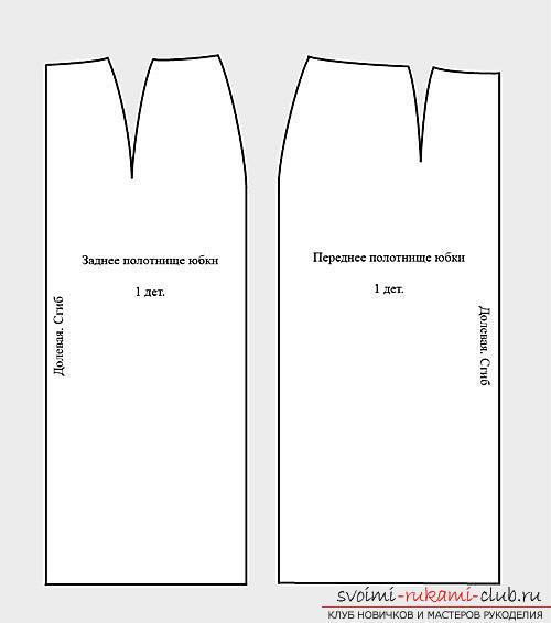 Выкройки юбок прямых и классических
