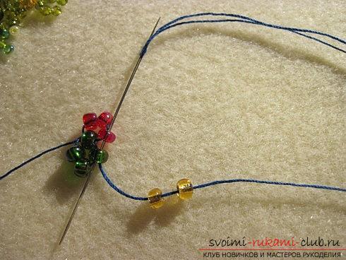 Мастер классы по плетению жгутов из бисера различных размеров, фото готовый изделий.. Фото №5