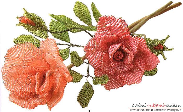 простого цветка из бисера.