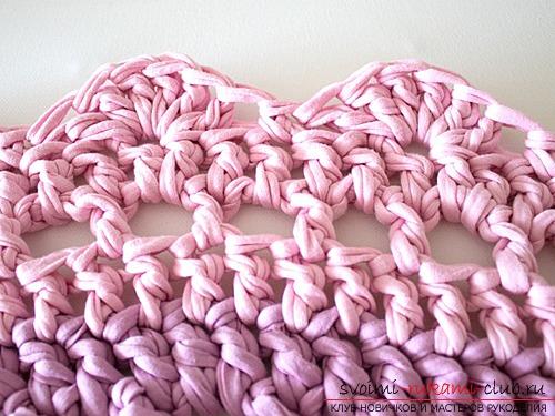 Красивый напольный коврик крючком для начинающих. Фото №9